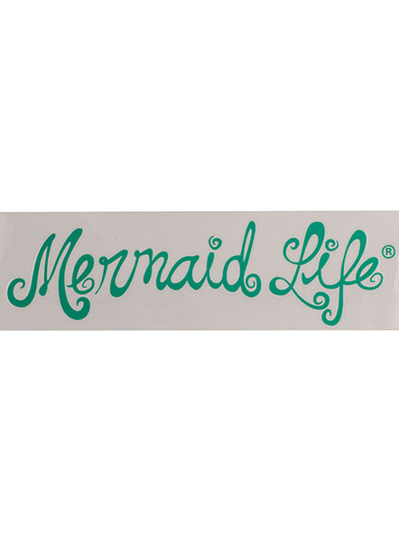 Mermaid Life Decal-Teal