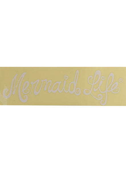 Mermaid Life Decal-White