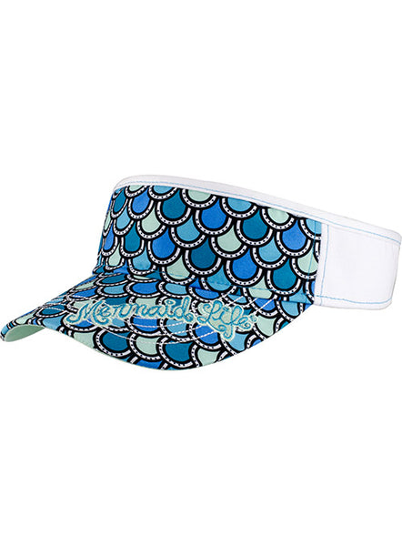 Mermaid Tail Visor-Aqua