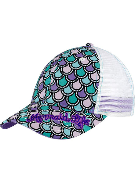 Mermaid Tail Cap-Purple
