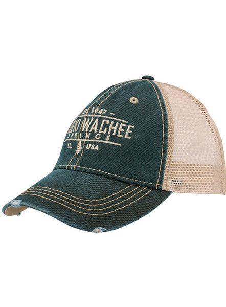 Distressed Trucker Cap-Teal