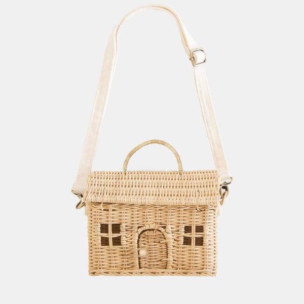 US stockist of Olli Ella's handwoven rattan straw Casa Bag.