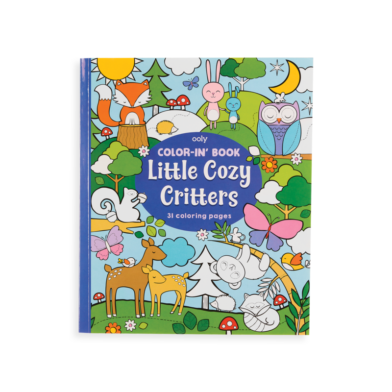 US stockist of Ooly's Little Cozy Critters coloring book.