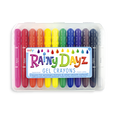 US stockist of Ooly Rainy Dayz Gel Crayons.  Contains set of 12 gel crayons that can write on glass surfaces, mirrors and paper!