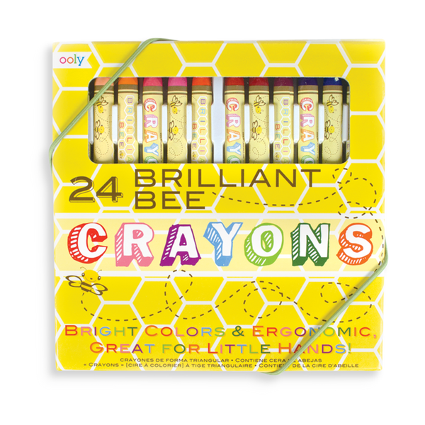 US stockist of Ooly's Brilliant Bee Crayons - set of 24.