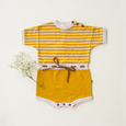 Mustard Yellow Retro Ollie Knit Romper