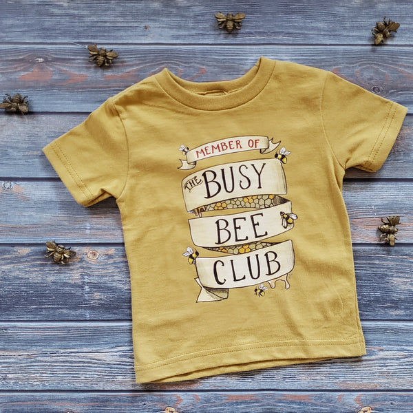 Raising Tito mustard yellow organic cotton short sleeve t-shirt