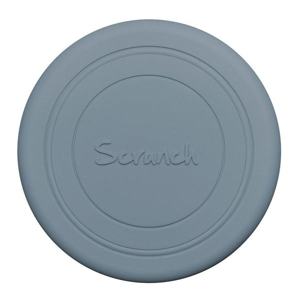 US stockist of Scrunch's recyclable Duck Egg Blue Flyer.  Made from soft, non-toxic food grade silicone, this frisbee can be squished, squashed, folded and rolled without ever losing its shape.