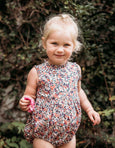 US stockist of Aubrie raspberry Pandora floral voile Enid romper