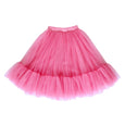 US stockist of Aubrie Romantic Ruffle Tulle Tutu Skirt in Vintage Rose