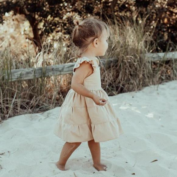 US stockist of Fable & Ford's Linen Florence Dress in Bisque