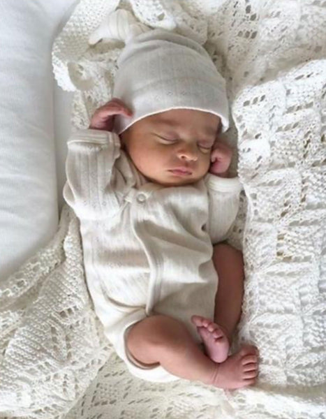 US stockist of Tilly & Otto pearl heirloom blanket