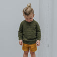 US stockist of Buck & Baa organic cotton fir green be kind sweatshirt
