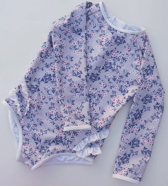 US stockist of Cocove Long Sleeve Sky Floral Rashsuit