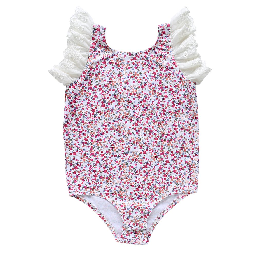 US Stockist of Aubrie Dixie Flutter Bodysuit in Forget Me Knot Knit