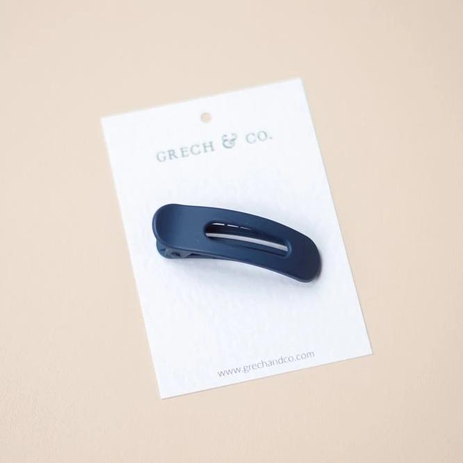 US stockist of Grech & Co Peacock Blue Single Grip Hair Clip