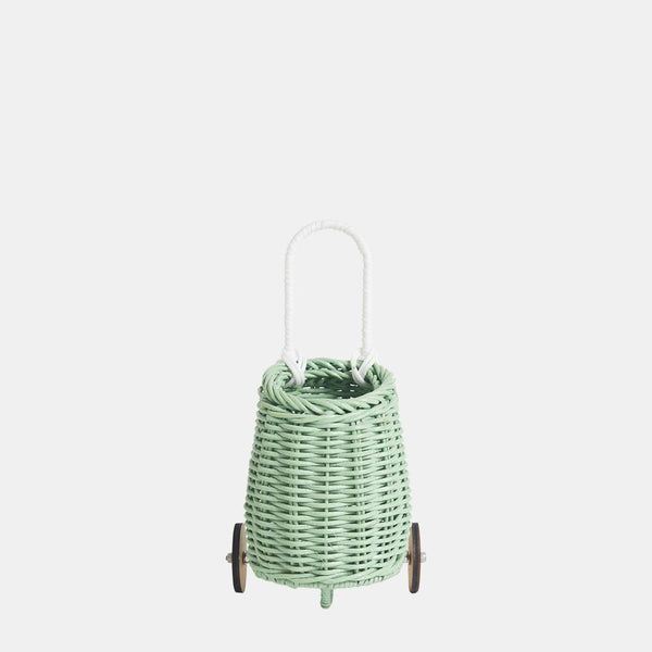 US stockist of Olli Ella hand woven mint rattan doll luggy