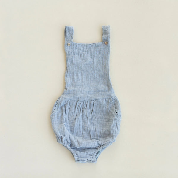 US stockist of Fable & Ford's Blue Mist Cheescloth Leo Pocket Romper