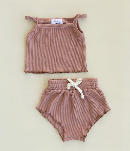 US stockist of Fable & Ford's 2Pc Deep Blush Ariel Set