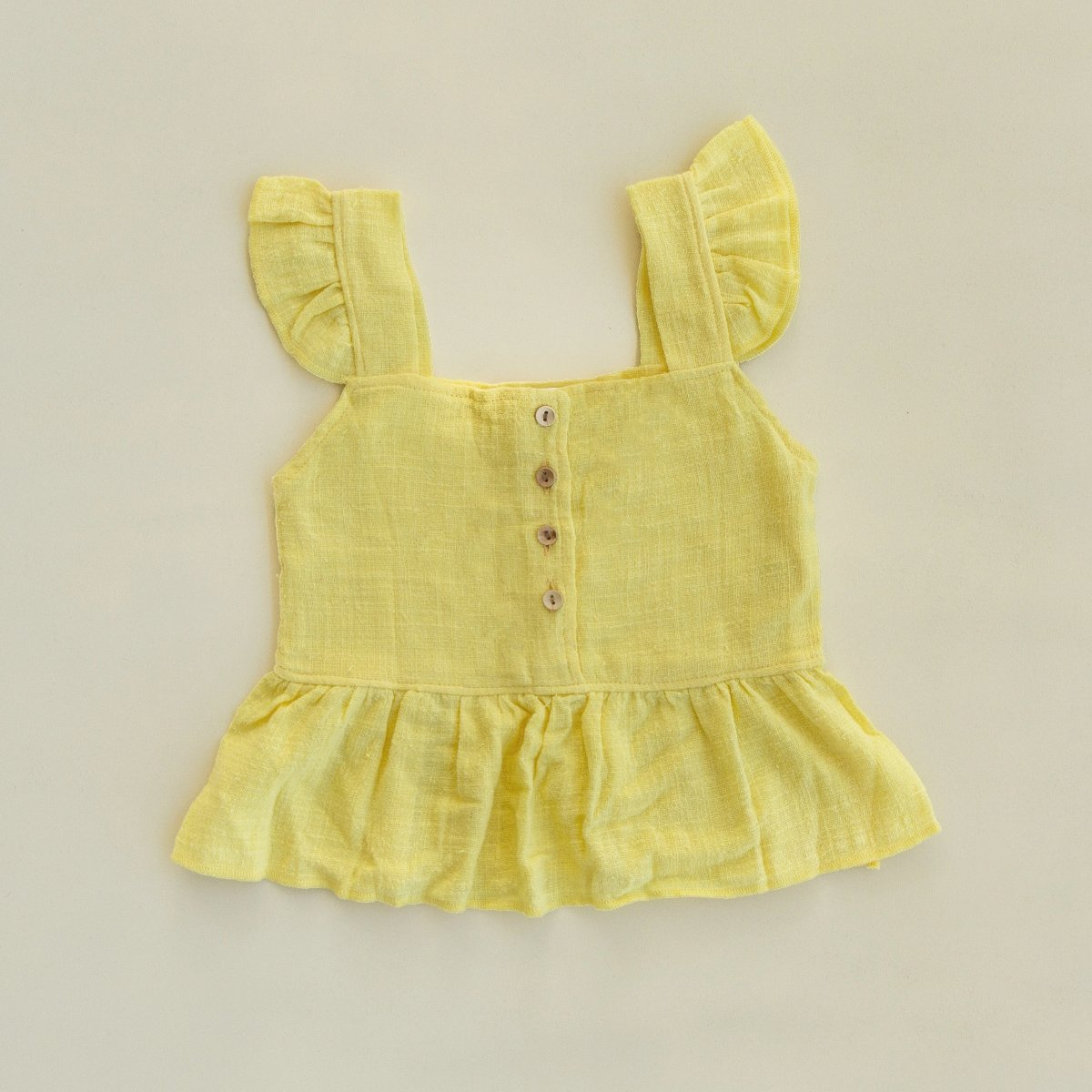 US stockist of Fable & Ford's Sienna Top in Lemon Linen