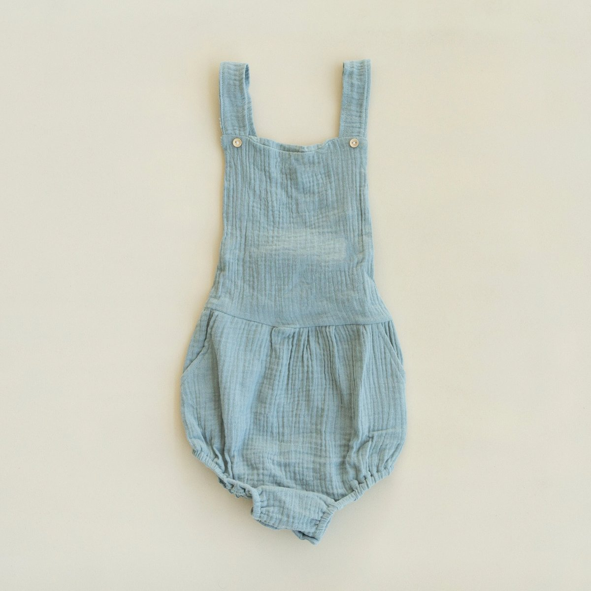 US stockist of Fable & Ford's Seafoam Green Cheescloth Leo Pocket Romper