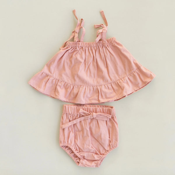 US stockist of Fable & Ford's Soleil Linen 2Pc Bloom Pink Set.