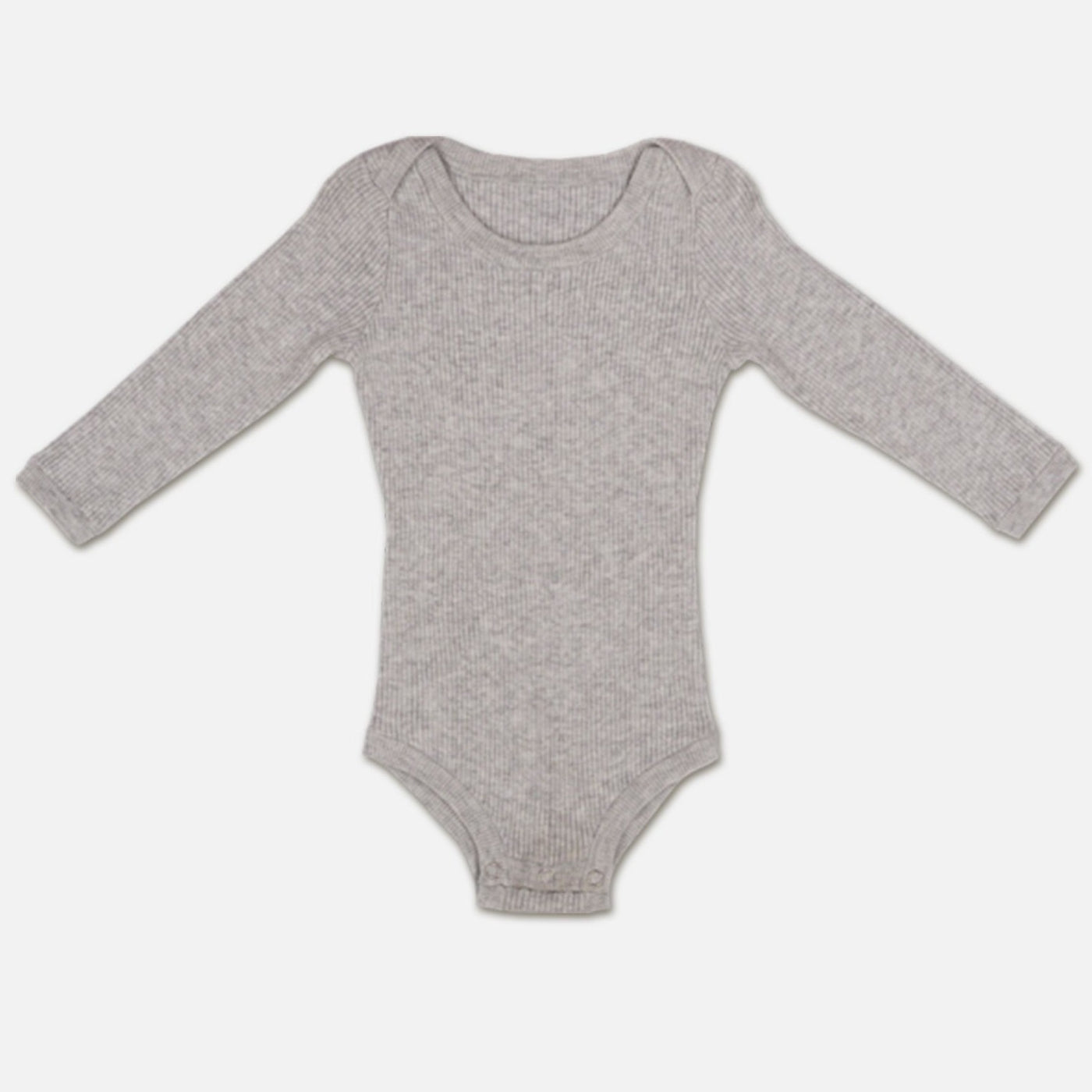 US stockist of Grown grey marle organic cotton ribbed bodysuit/onesie