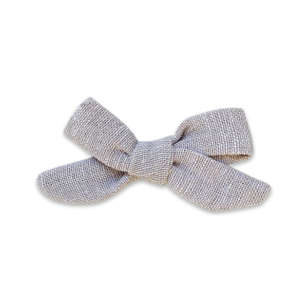 US stockist of Josie Joan's Gigi petite bow hair clip.  Made from premium cotton fabric designed by Robert Kaufman.
