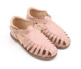 US stockist of Anchor & Fox's Waxed Leather, Closed Toe, Peach Amalfi Sandals