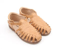US stockist of Anchor & Fox Waxed Leather, Closed Toe Amalfi Sandals in Caramel.