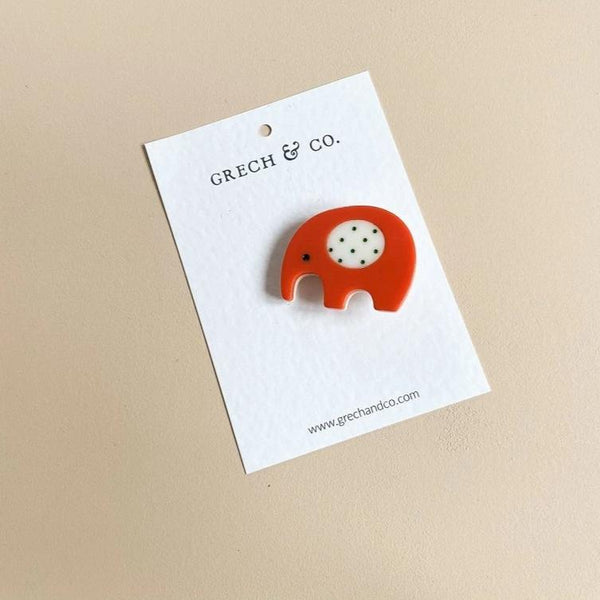 US stockist of Grech & Co Red Elephant Single Cutie Clip