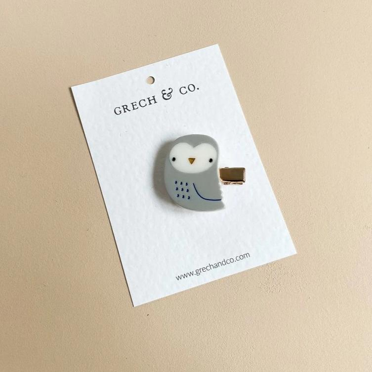 US stockist of Grech & Co Grey Owl Single Cutie Clip