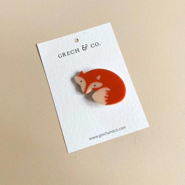 US stockist of Grech & Co Red Fox Single Cutie Clip