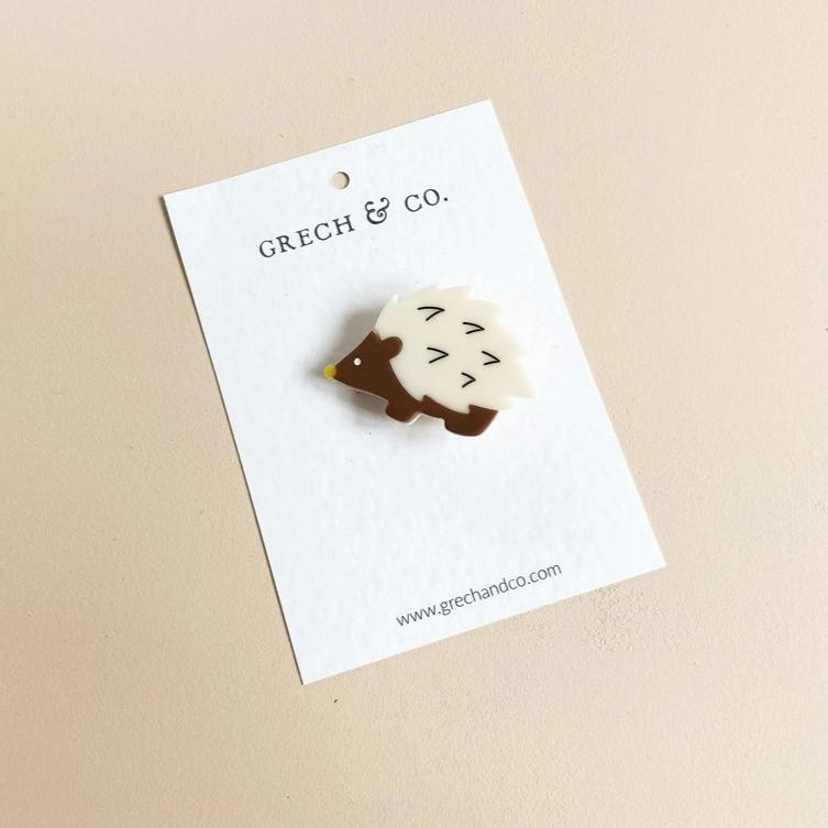 US stockist of Grech & Co Cream Hedgehog Single Cutie Clip
