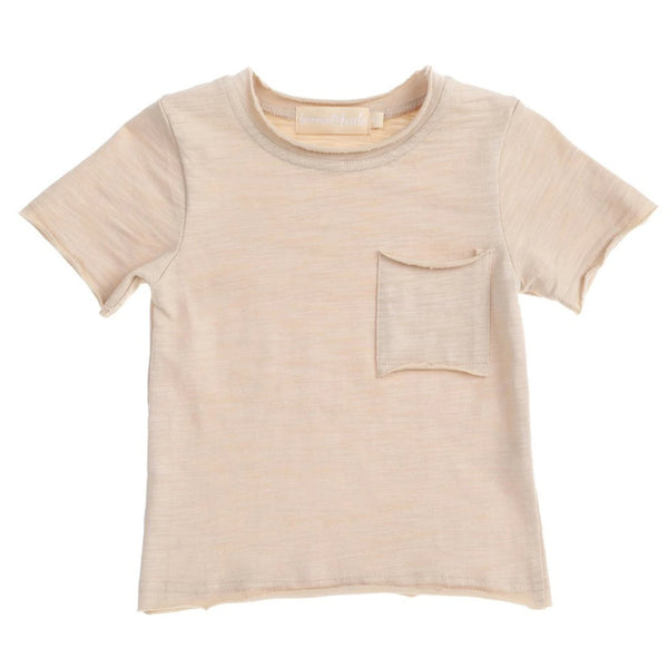 US stockist of Bonnie & Harlo Cream pocket t-shirt