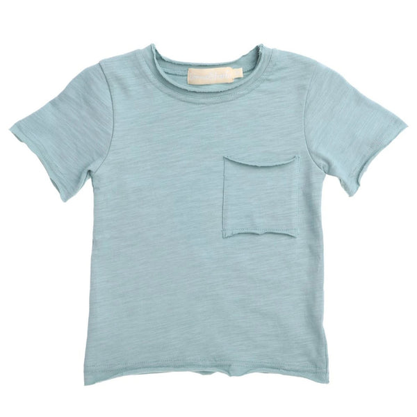 US stockist of Bonnie & Harlo blue short sleeve t-shirt