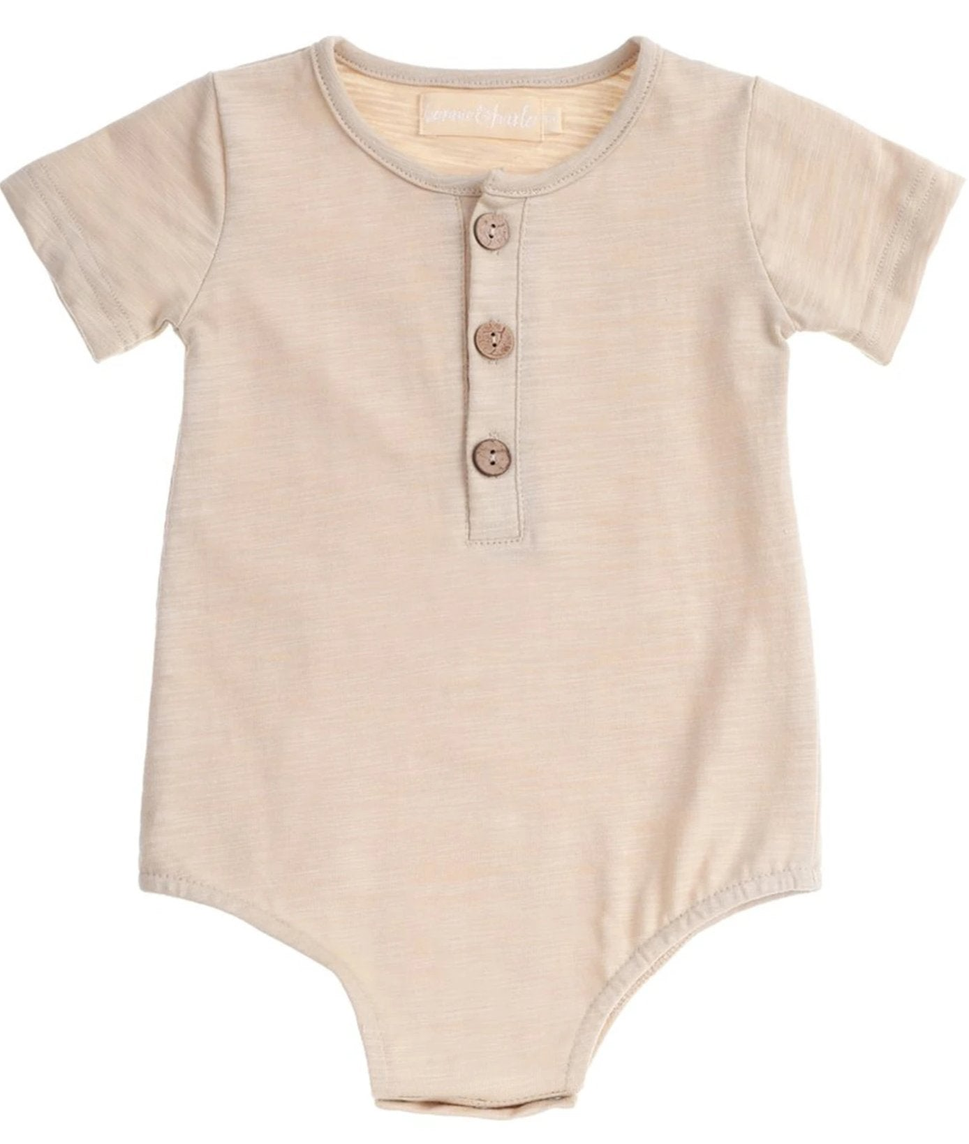 US stockist of Bonnie & Harlo cream henley bodysuit