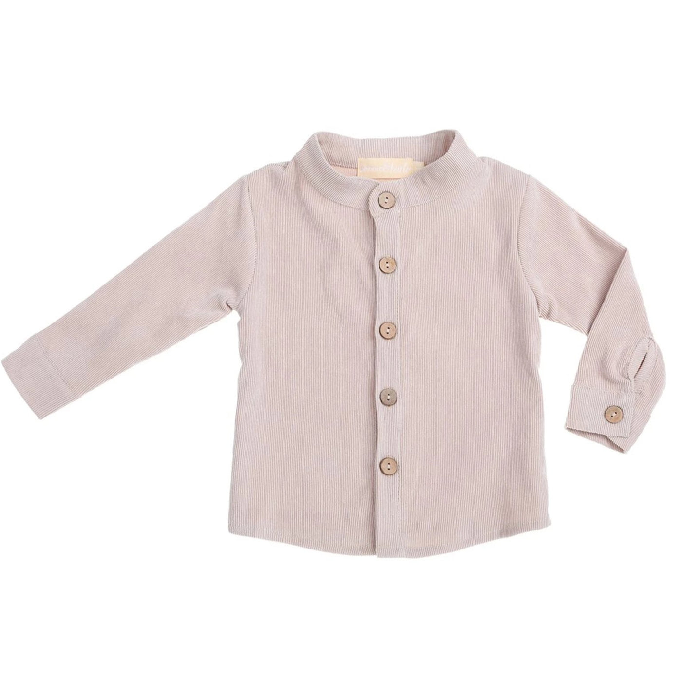 US stockist of Bonnie & Harlo sand corduroy long sleeve shirt