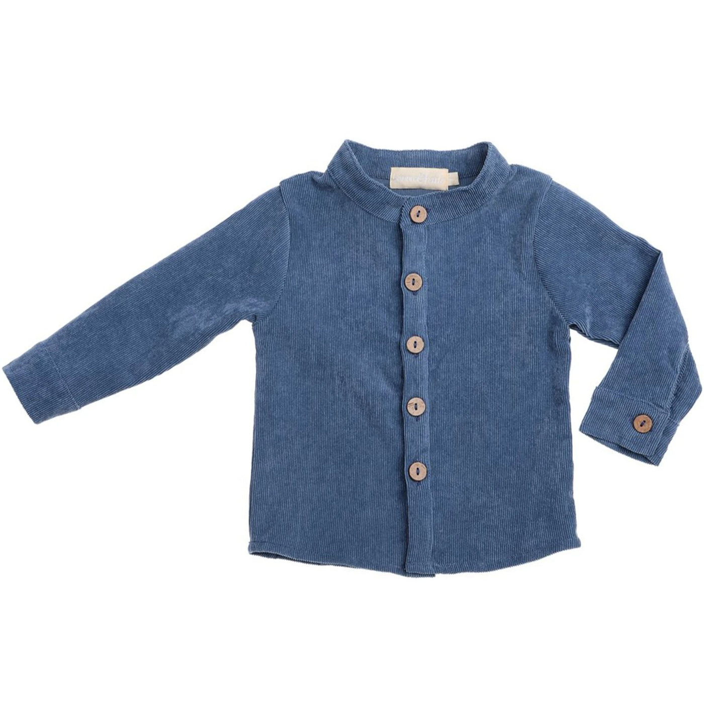 US stockist of Bonnie & Harlo blue corduroy long sleeve shirt
