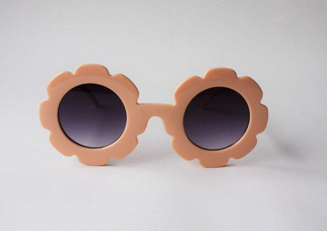 US stockist of Elle Porte's Daisy sunglasses in Nectar peach with dark lenses.