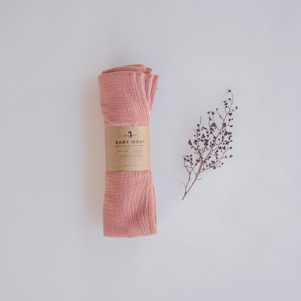 Dusty Rose Pink Cotton Muslin Wrap