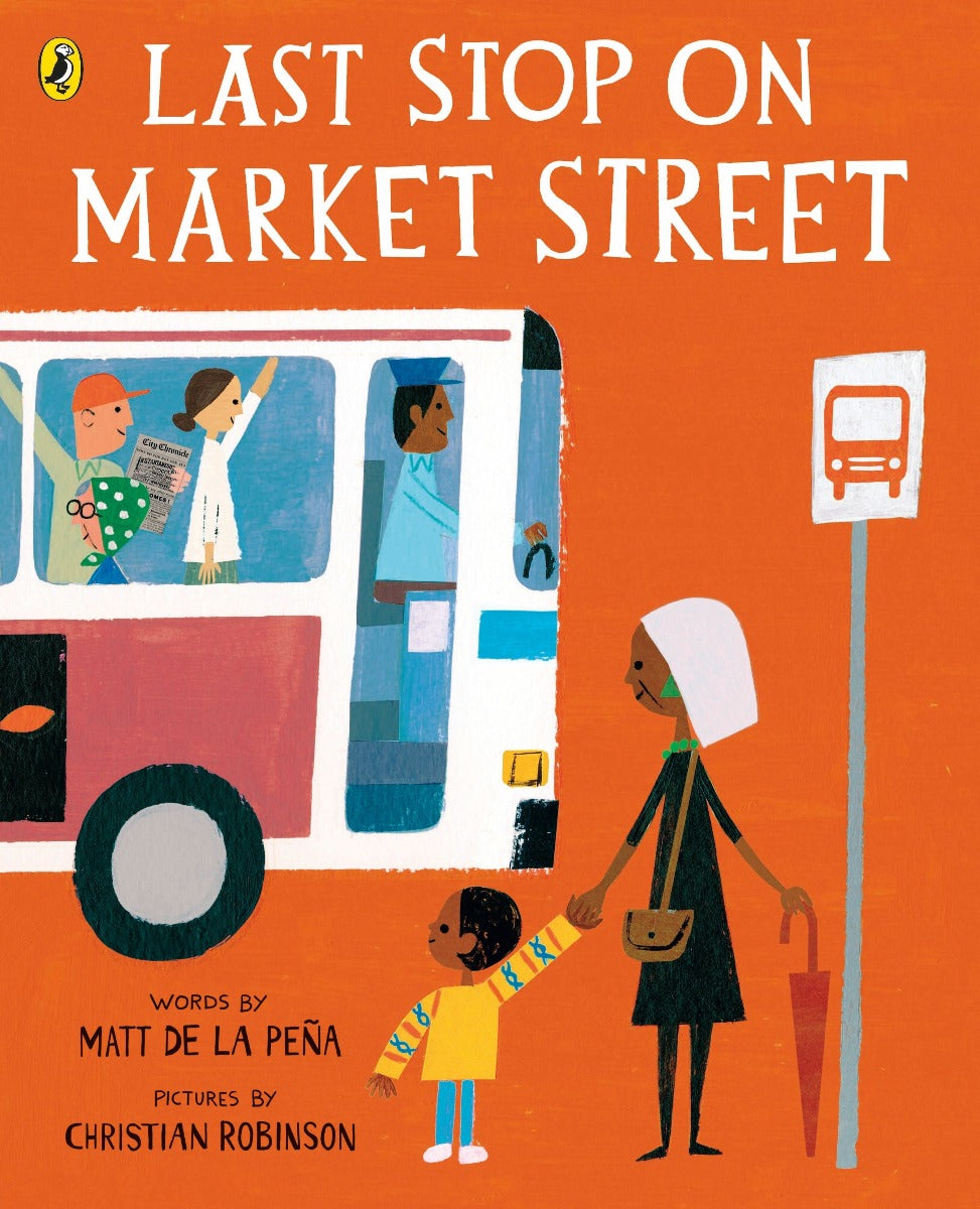 US stockist of children's paperback book; Last Stop on Market Street.  Written by Matt de la Pena and Christian Robinson.