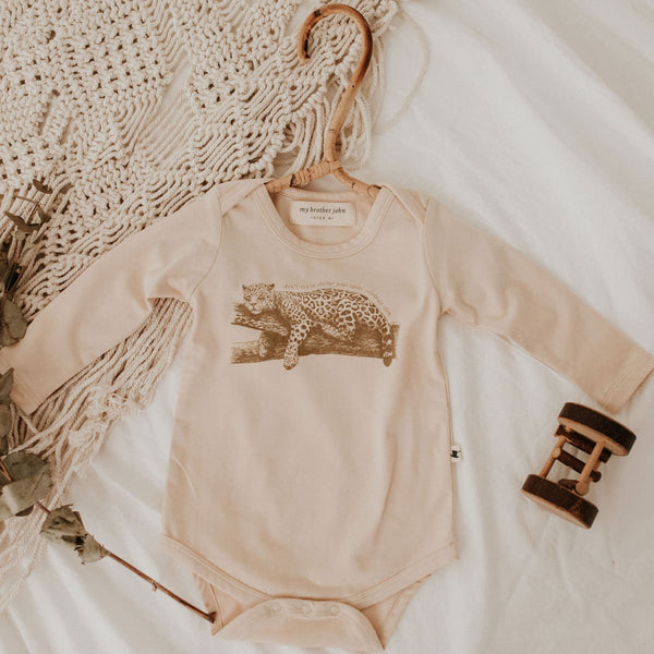 Leopold Leopard Long Sleeve Bodysuit