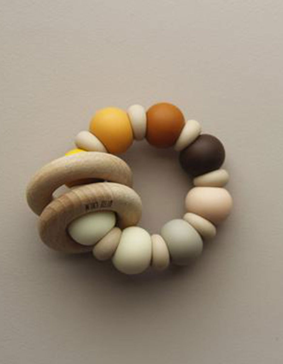 US stockist of Little Chew rudis silicone wood ring teether