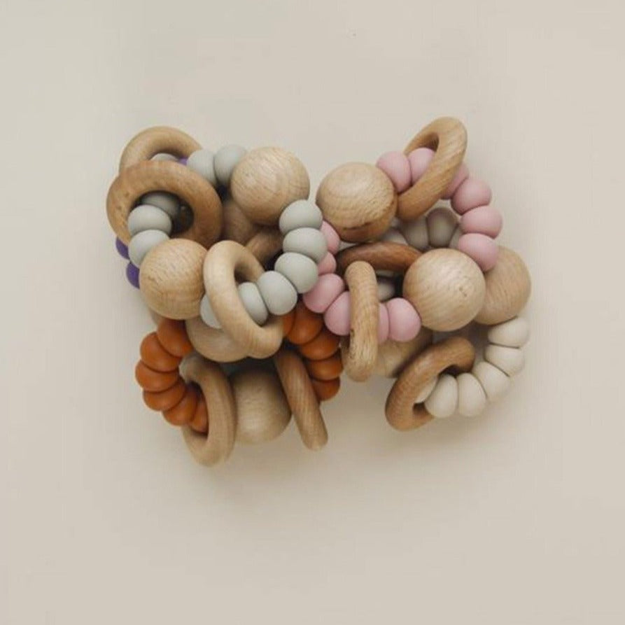 US stockist of Little Chew musta rust silicone wood ring teether