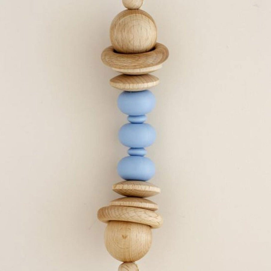 US stockist of Little Chew silicone + wood chess blue teether