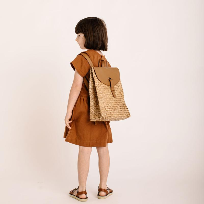 US stockist of Olli Ella Nami Mini Seagrass Woven Backpack