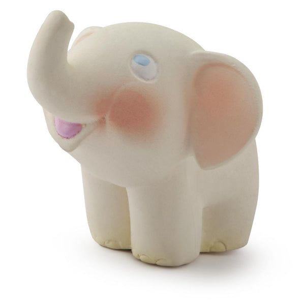 US stockist of Oli & Carol's Nelly the Elephant teether/bath toy. Made from 100% natural sustainable rubber with no holes.