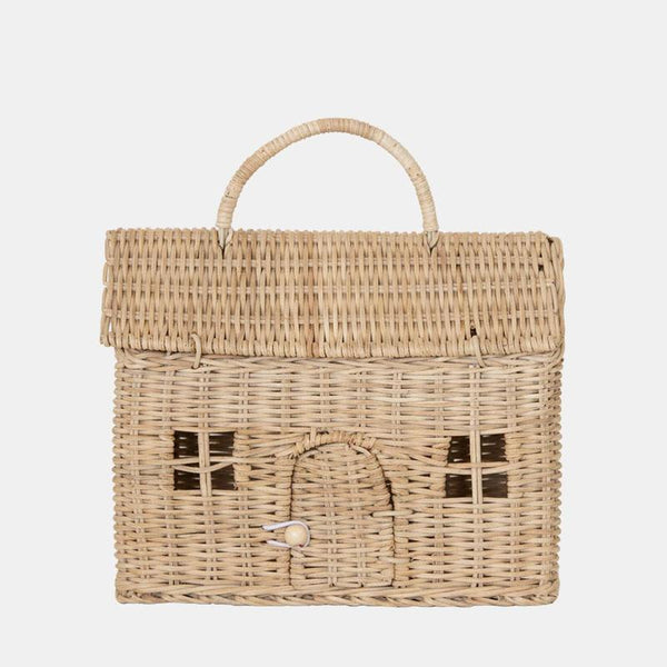 US stockist of Olli Ella's handwoven rattan straw Casa Clutch