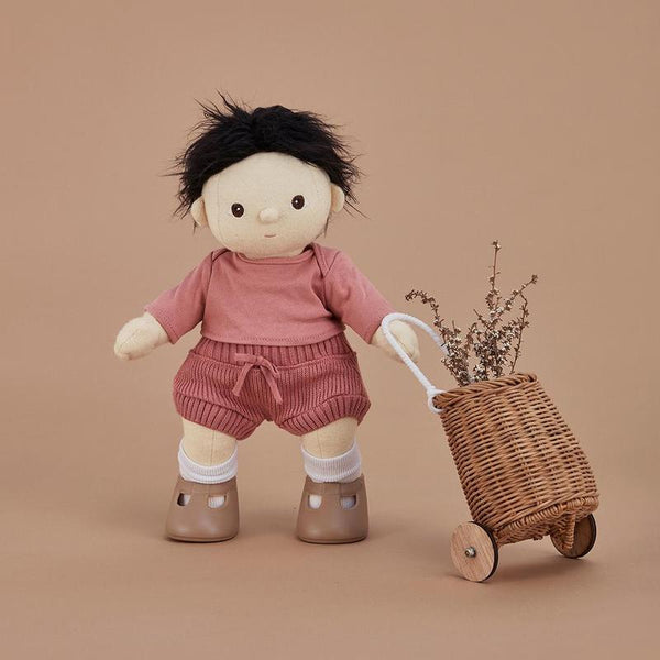 US stockist of Olli Ella's Berry Snuggly Set.  Features long sleeve top and matching bloomers.